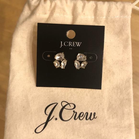 J. Crew Jewelry - Diamond earrings never worn